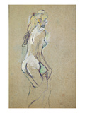 Nude Young Girl, 1893 (Oil on Card) Giclee Print by Henri de Toulouse-Lautrec