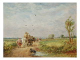 Going to the Hayfield, 1853 (Oil on Millboard) Giclee Print by David Cox