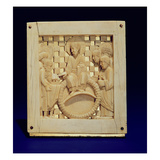 Christ Receiving Magdeburg Cathedral from Emperor Otto I, C.962-68 (Ivory) Giclee Print by  Ottonian