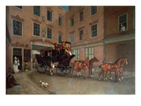 The Departure of the Diligence from Southampton Giclee Print by  English
