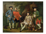 James Grant of Grant, John Mytton, the Honorable Thomas Robinson and Thomas Wynne, C.1760 Giclee Print by Nathaniel Dance-Holland