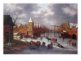 Amsterdam City Gate (Oil on Canvas) Giclee Print by Anthonie Beerstraten