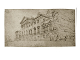 Harewood House, Yorkshire, C.1798 (Graphite on Textured Wove Paper) Giclee Print by Thomas Girtin