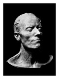 Gustav Mahler's Death Mask, 1911 (Plaster) (B/W Photo) Giclee Print by  Austrian