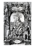 Frontispiece to 'Poly-Olbion' by Michael Drayton, Published in 1622 (Engraving) Giclee Print by William Hole