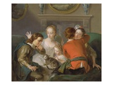 The Sense of Touch, C.1744-47 (Oil on Canvas) (See also 129301 and 129302) Giclee Print by Philippe Mercier