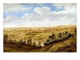 Richmond Castle, Yorkshire, C.1640-41 (Oil on Panel) Giclee Print by Alexander Keirincx