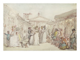 Covent Garden Market, C.1795-1810 (Pen and Ink, W/C and Pencil on Wove Paper) Giclee Print by Thomas Rowlandson