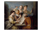The Sense of Sight, c.1744-47 Giclee Print by Philippe Mercier