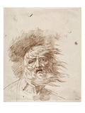 King Lear in the Storm (Pen and Bistre Ink on Paper) Giclee Print by George Romney