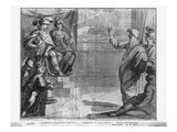 Life of Christ, St. Paul Preaching, Preparatory Study of Tapestry Cartoon Giclee Print by Henri Lerambert