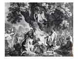 The Druids, or the Conversion of the Britons to Christianity, Engraved by Simon Francois Ravenet Giclee Print by Francis Hayman