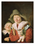 Children Playing with a Cat (Oil on Canvas) Giclee Print by Jan Miense Molenaer