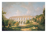 The Pont Du Gard, Nimes Giclee Print by William Marlow