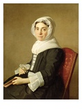Mary Adam, 1754 (Oil on Canvas) Giclee Print by Allan Ramsay
