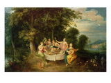 The Five Senses (Oil on Panel) Giclee Print by Frans Francken
