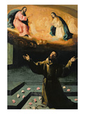 St. Francis of Assisi, or the Miracle of the Roses, 1630 Giclee Print by Francisco de Zurbaran