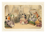 A Punch of Artists, from 'soirees Parisiennes', Engraved by J. Champagne (Colour Litho) Giclee Print by Henri De Montaut