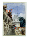 Abbey St-Amand, Rouen (W/C, Bodycolour and Pencil on Paper) Giclee Print by Richard Parkes Bonington