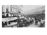 View of Regent Street, C.1884 (B/W Photo) Giclee Print by  English Photographer