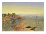 The Ganges, 1863 (W/C on Paper) Giclee Print by William 'Crimea' Simpson