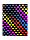Colourful Squares Giclee Print by Louisa Knight