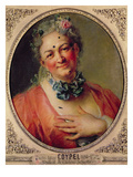 Portrait of the Singer Pierre De Jelyotte (1713-97) in Female Costume, C.1745 (Oil on Canvas) Giclee Print by Charles Antoine Coypel