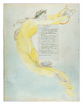 The Bard', Design 52 from 'The Poems of Thomas Gray', 1797-98 (W/C with Pen and Black Ink on Paper) Lámina giclée por William Blake