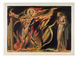A Naked Man in Flames, Plate 26 from 'Jerusalem', 1804-20 Giclée-Druck von William Blake