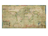 A True Description of the Naval Expedition of Francis Drake, 13th December 1577 Premium Giclee Print by Sir Francis Drake