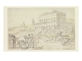 Doctor Syntax Loses His Money on the Race Ground at York (Pen and Ink with W/C on Paper) Giclee Print by Thomas Rowlandson
