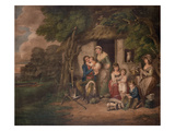 Saturday Evening, 1795 (Colour Engrving) Giclee Print by William Redmore Bigg