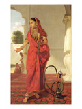 An Indian Dancing Girl with a Hookah, 1772 (Oil on Canvas) Giclee Print by Tilly Kettle