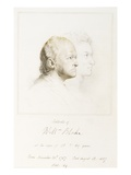 William Blake (1757-1827) in Youth and Age (Graphite with Brush and Brown Ink) Giclee Print by George Richmond