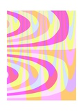 70'S Swirls Giclee Print by Louisa Knight