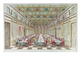 Feast Given at the Chateau De Versailles in Celebration of the Peace at End of Seven Years War Giclee Print by  French