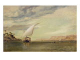 On the Nile (Oil on Canvas) Giclee Print by Edward William Cooke