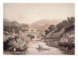 River Scene in Devonshire Giclee Print by John James Chalon