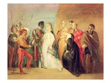 The Return of Othello, Act Ii, Scene Ii from 'Othello', C.1799 (Oil on Paper Mounted on Canvas) Giclee Print by Thomas Stothard