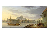 A View of Westminster Bridge and the Abbey from the South Side, 1818 (Oil on Panel) Giclee Print by William Anderson