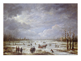 Winter Landscape (Oil on Canvas) Giclee Print by Aert van der Neer
