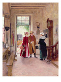 Arrival at the Inn Giclee Print by Charles Edouard Delort