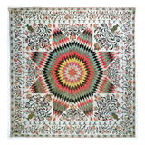Rising Sun' or 'star of Bethlehem' Applique Quilt from New York, C.1830-50 (Cotton) Giclee Print by Mary Totten