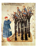 Dante and the Souls Transformed into Birds, from 'The Divine Comedy' by Dante Alighieri (1265-1321) Giclee Print by  Italian