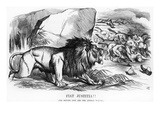 Fiat Justitia! the British Lion and the Afghan Wolves, Cartoon from 'Punch' Magazine Stampa giclée di Tenniel, John