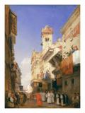 Corso Sant'Anastasia, Verona (Oil on Panel) Giclee Print by Richard Parkes Bonington