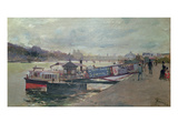 Harbour Scene, 19th Century Giclee Print by Jacques Guiaud