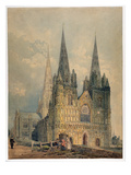 Lichfield Cathedral, Staffordshire, 1794 (W/C over Graphite on Wove Paper) Giclee Print by Thomas Girtin