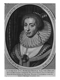 Elizabeth, Queen of Bohemia, 1630 (Engraving) Giclee Print by Willem Hondius
