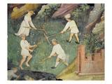 Haymaking in the Month of June, Detail (Fresco) Giclée-Premiumdruck von Maestro Venceslao
